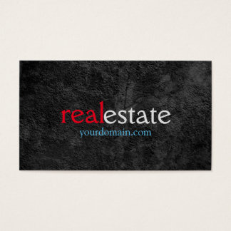 Grey Pattern Real Estate Agent Trendy Red Blue Business Card