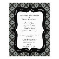 Grey Pattern Wedding Flyer