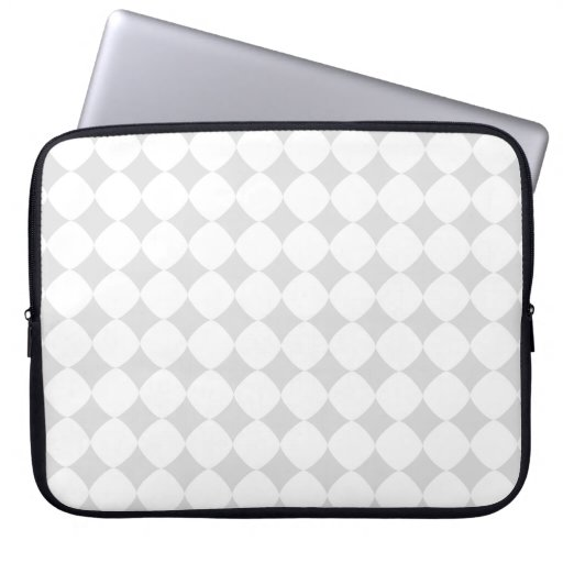 grey patterns laptop sleeve