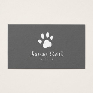 Grey Paw Dog Walking Pet Sitting Vet Appointment Business Card