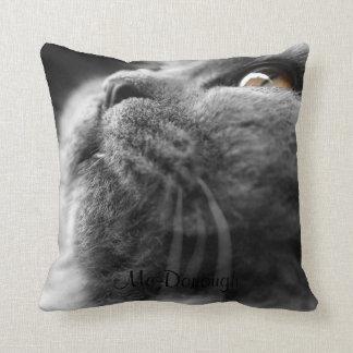 Grey Persian Cat Throw Pillow