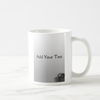 Grey Persian Cat with Blue Eyes on Grey Classic White Coffee Mug