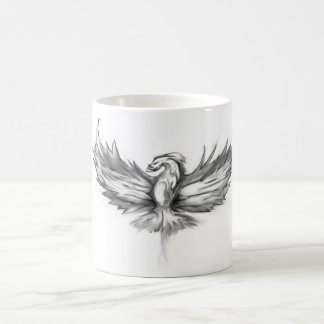 Grey Phoenix Rising Coffee Mug