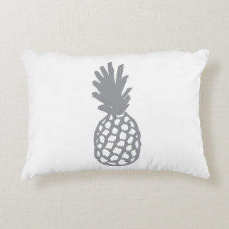 Grey Pineapple Accent Pillow