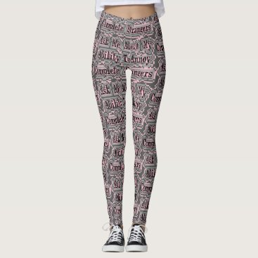Beach Themed Grey & Pink - Ability To Annoy Complete Strangers Leggings