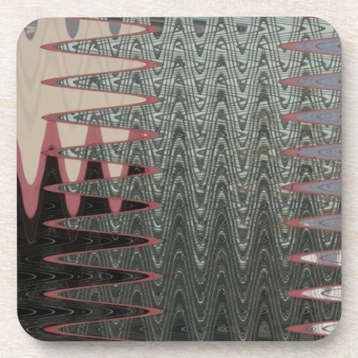 grey pink abstract art beverage coaster