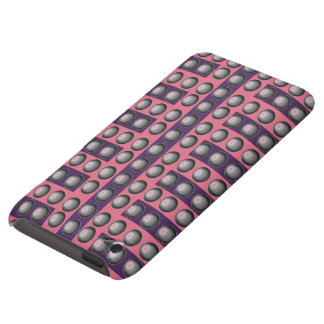 Grey, Pink and Purple Dot Pattern iPod Touch Covers