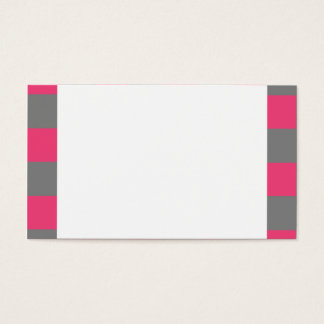 Grey Pink Checkerboard Checkered Business Cards 2