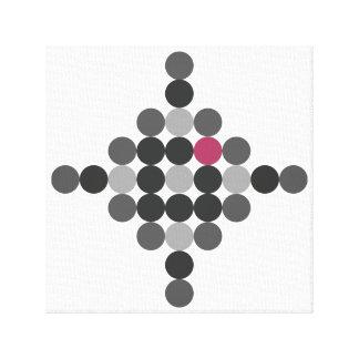 Grey & Pink Geometric Art Canvas Print
