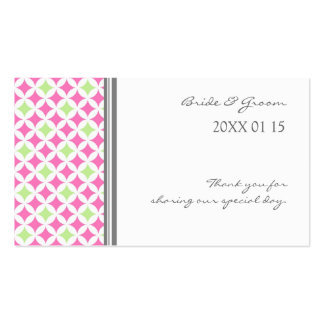 Grey Pink Lime Wedding Favor Tags Business Card