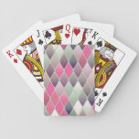 Grey & Pink Tiles Playing Cards