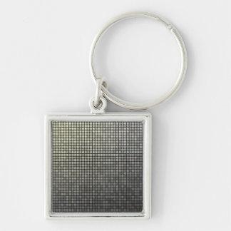 Grey Pixel Art Keychain