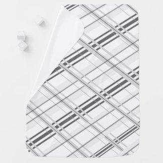 Grey Plaid Baby Blanket
