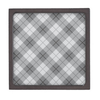 Grey Plaid Gift Box