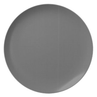 Grey Plain Blank DIY Template add text quote photo Melamine Plate