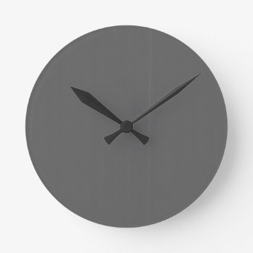 Professional Business Grey Plain Blank DIY Template add text quote photo Round Clock