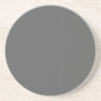 Grey Plain Blank DIY Template add text quote photo Sandstone Coaster