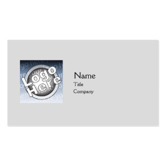 Grey Plain - Business Double-Sided Standard Business Cards (Pack Of 100)
