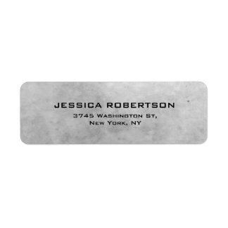 Grey Plain Elegant Modern Trendy Label