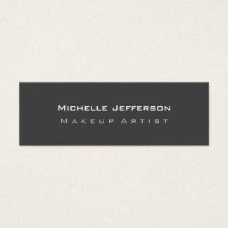 Grey Plain Slim Size Double-sided Business Card