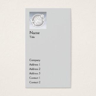 Grey Plain Vertical - Business Business Card