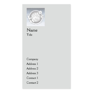 Grey Plain Vertical - Business Double-Sided Standard Business Cards (Pack Of 100)