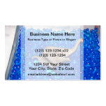 grey plastic elephant in blue balls business card templates