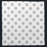 "Grey polka dots on white napkin<br><div class=""desc"">Grey polka dots on white</div>"