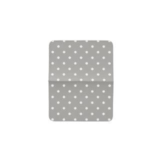 Grey Polka Dots Pattern Business Card Holder