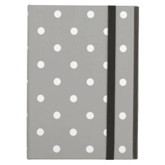 Grey Polka Dots Pattern Case For iPad Air