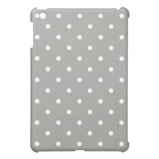 Grey Polka Dots Pattern Case For The iPad Mini