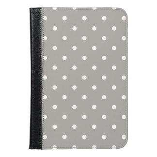 Grey Polka Dots Pattern iPad Mini Case