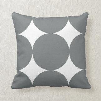 Grey Polka Dots Throw Pillow
