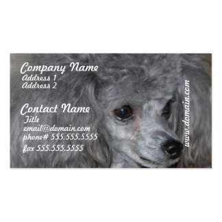 Grey Poodle Business Cards