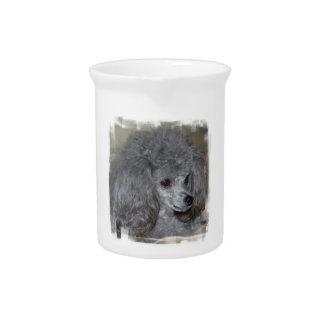 Grey Poodle Pitcher
