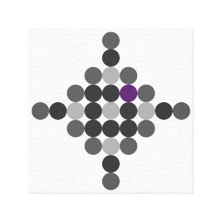 Grey + Purple Geometric Art Canvas Print