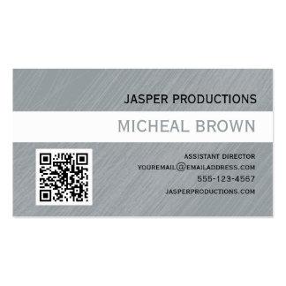Grey QR Code Business Card