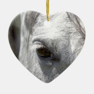 Grey Quarter Horse Stallion Ceramic Ornament
