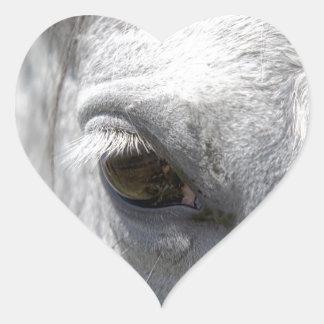 Grey Quarter Horse Stallion Heart Sticker