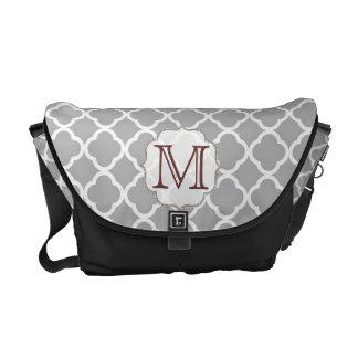 Grey Quarterfoil Latti Monogram Bag Tote Purse Messenger Bags
