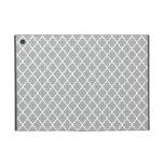 Grey Quatrefoil Case For iPad Mini