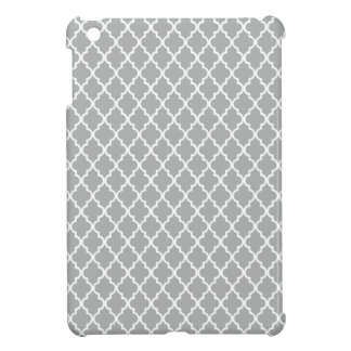 Grey Quatrefoil Cover For The iPad Mini