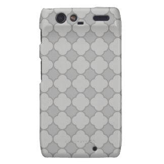 Grey Quatrefoil Pattern Droid RAZR Cover