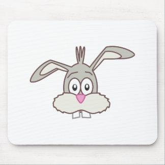 Grey Rabbit head Mouse Pad