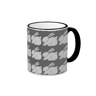 Grey Rabbit Ringer Mug