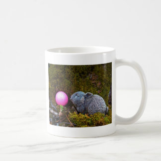 Grey Rabbit with Pink Golf Ball Coffee Mugs