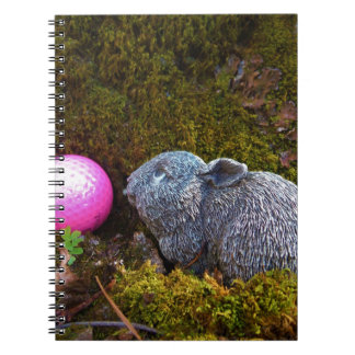 Grey Rabbit with Pink Golf Ball Notebook