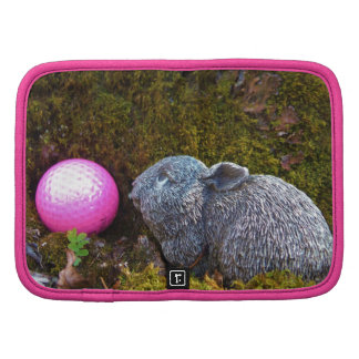 Grey Rabbit with Pink Golf Ball Planners