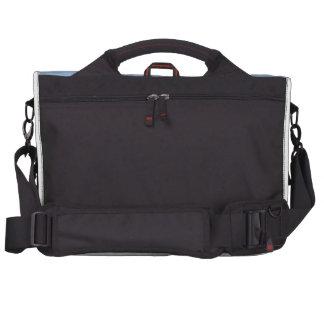 Grey Race Horse Racing Portrait , sports photo Laptop Messenger Bag