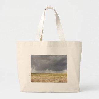 Grey Rain On Golden Field Bag